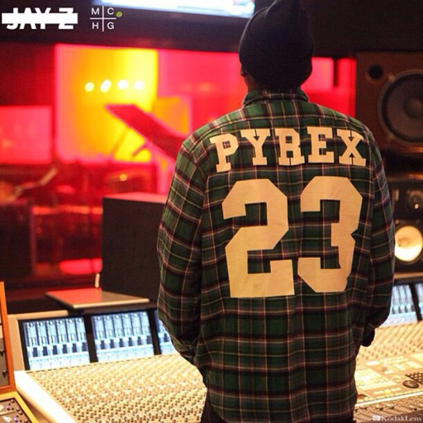 shirt green pyrex