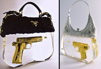 bag prada handbag gun gun bag