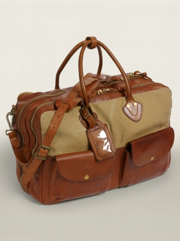 Leather-and-Canvas Cargo Bag - See All    CONCEPT_SHOP_3 - RalphLauren.com