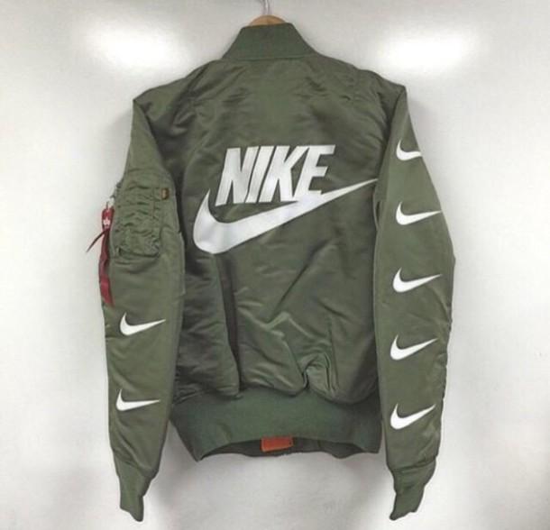 jacket nike green nike jacket nike air bomber jacket. Black Bedroom Furniture Sets. Home Design Ideas