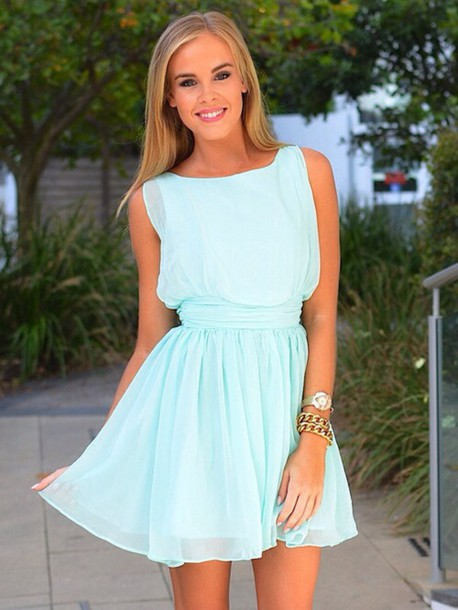 dress mint color and flowy