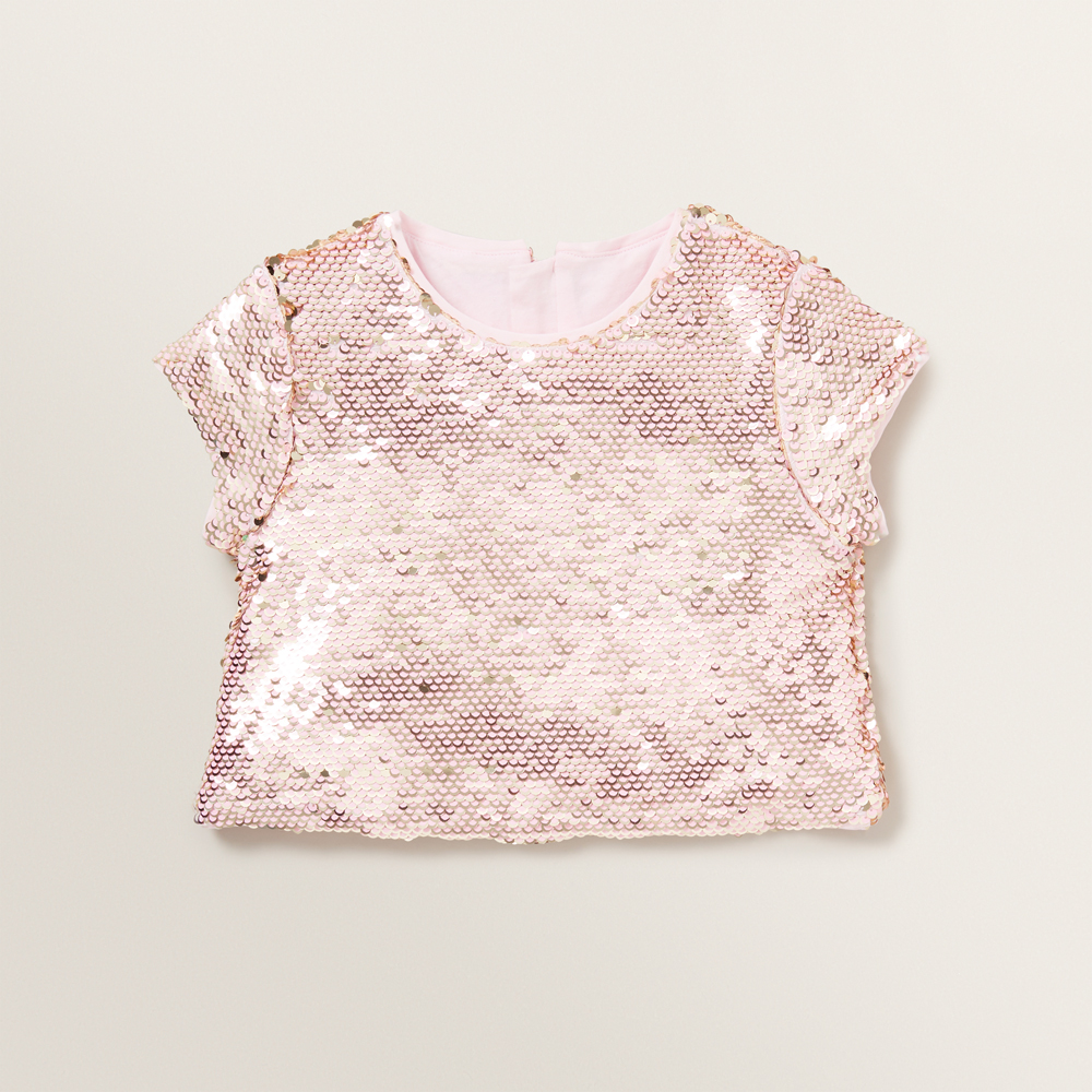 Sequin Cropped Tee
