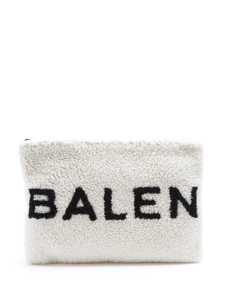Balenciaga pouch white black bag