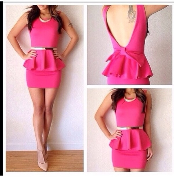 dress pink dress short pink prom dress