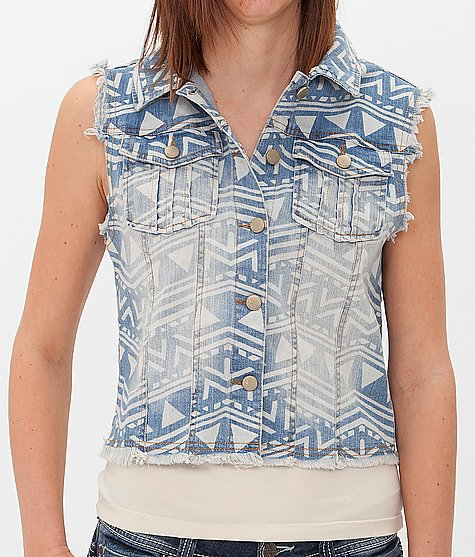 Tinseltown Southwestern Denim Vest - Women's Vests | Buckle