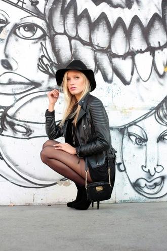 jolie janine blogger hat h&m black hat