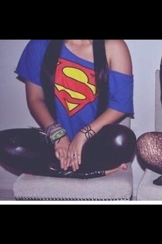 superman superwoman t-shirt