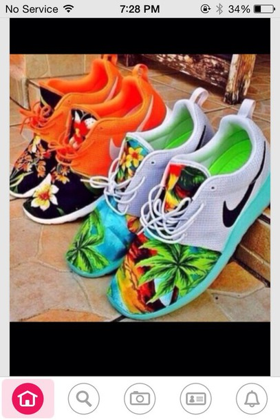 shoes nike running shoes tribal pattern fiji