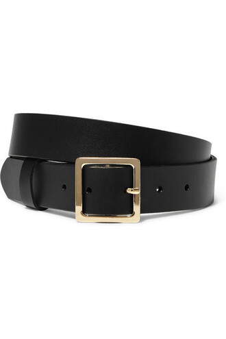 classic belt leather black