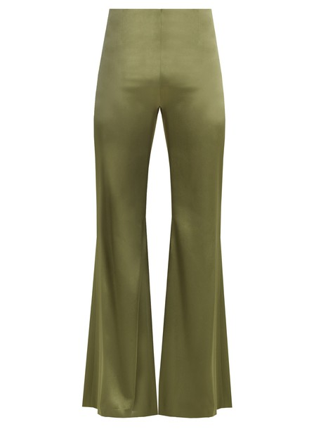 Galvan high satin khaki pants