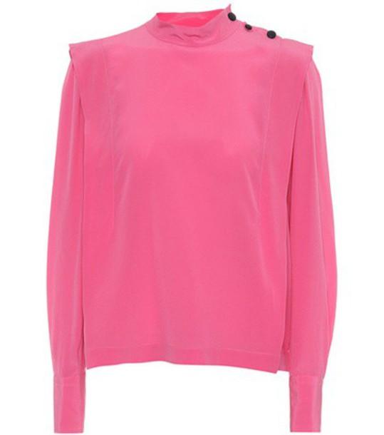 Isabel Marant top silk pink