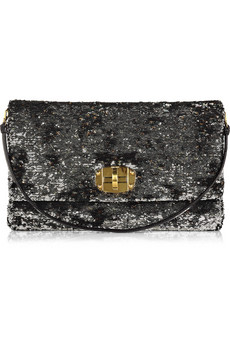 oversized sequined clutch