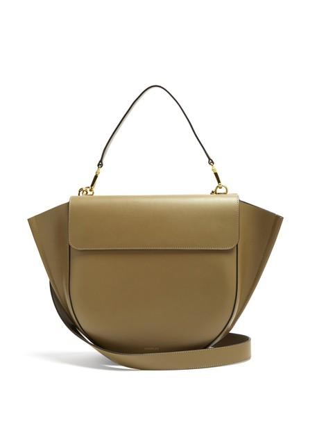 Wandler bag leather bag leather khaki