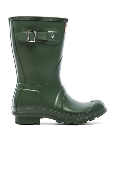 Hunter boot short dark green shoes