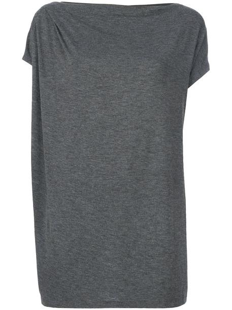 Tomas Maier t-shirt shirt t-shirt women spandex sporty grey top