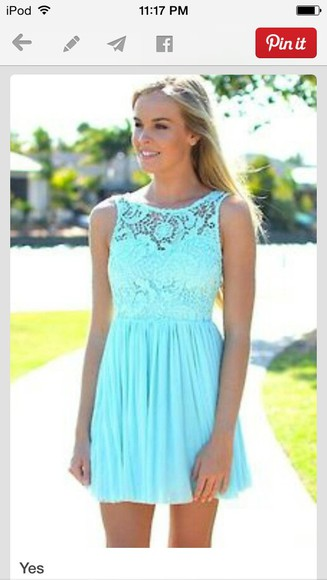 dress lace dress summer dress blue dress short dress neon dress