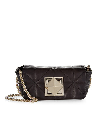mini quilted bag mini bag leather black