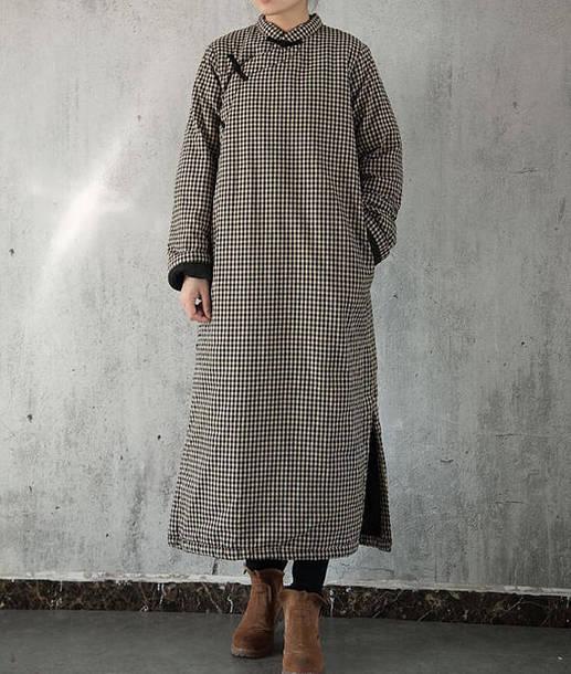 dress padded robe maxi dress