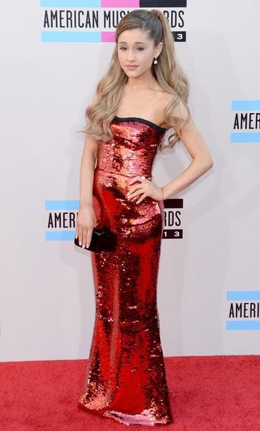Long Red Sequin Dress