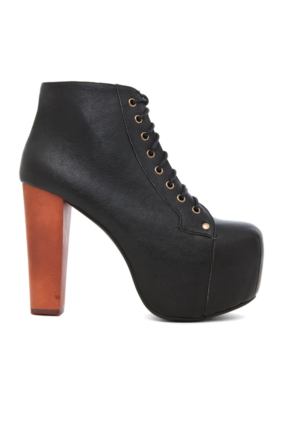 Jeffrey Campbell Lita Platform Lace Up Boot in Black | REVOLVE