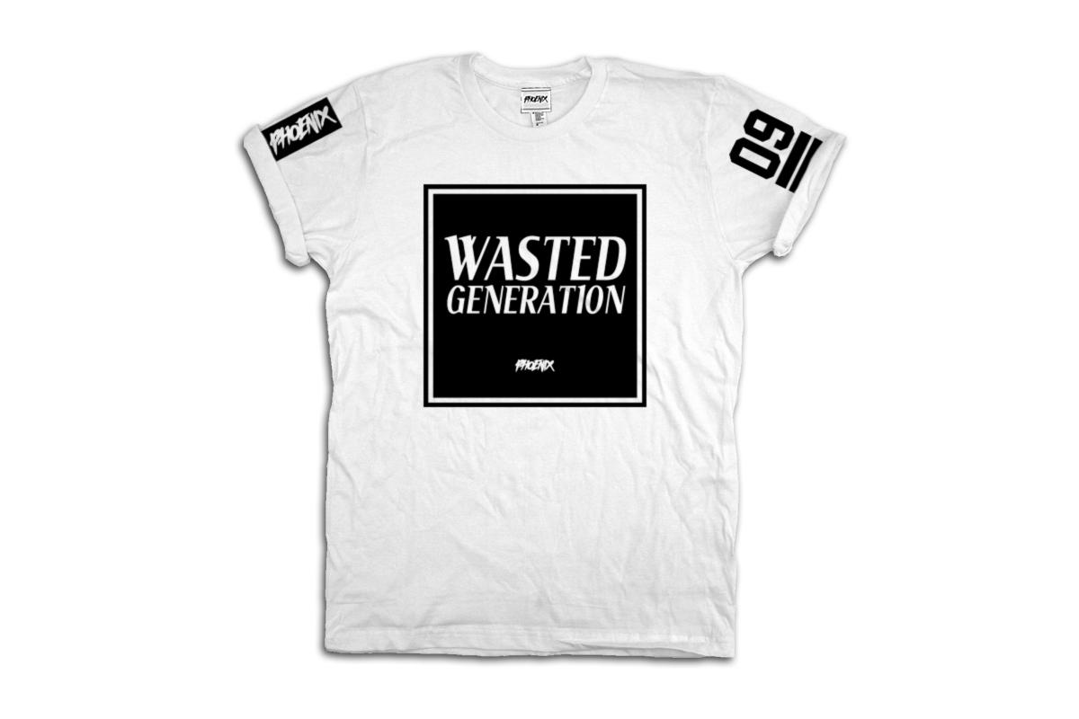 Phoenix Clothing Shop Wasted Generation T-Shirt white
