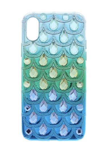 phone cover blue ombre iridescent