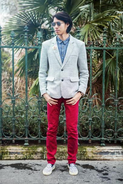 mahayanna blogger mens pants red pants pants