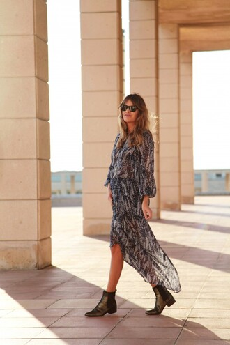 my daily style blogger bag boho chic folk feathers dress