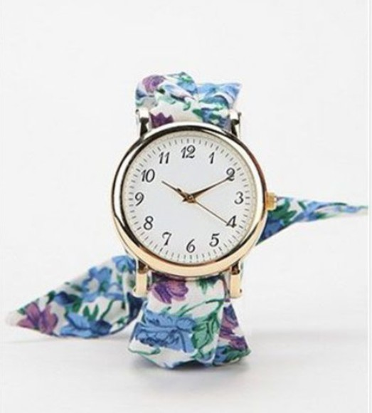 jewels wrist watch foral