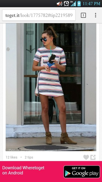 dress ethnic hailey baldwin mid thigh dress