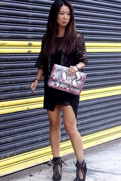 bag python snake snake print python print pochette python bags pink handbag