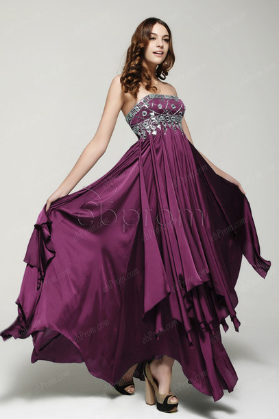 dress: crystal prom dresses, flowing prom dresses, long prom dress