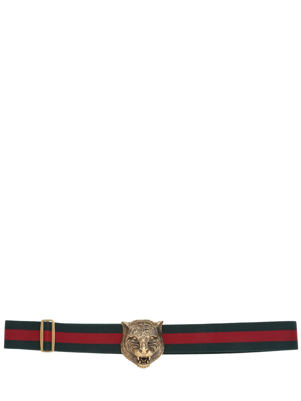 de9bab3454e Gucci Green and Red Classic Webbing Gg Belt - Wheretoget