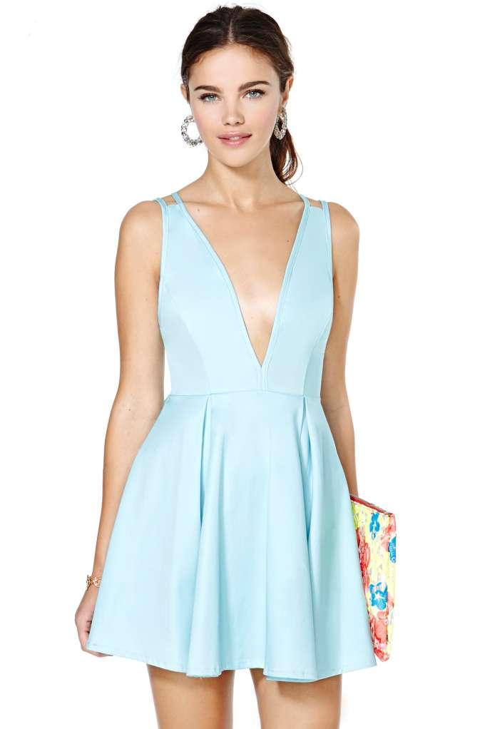 Nasty Gal Live It Up Dress - Blue | Shop Designed By Us at Nasty Gal