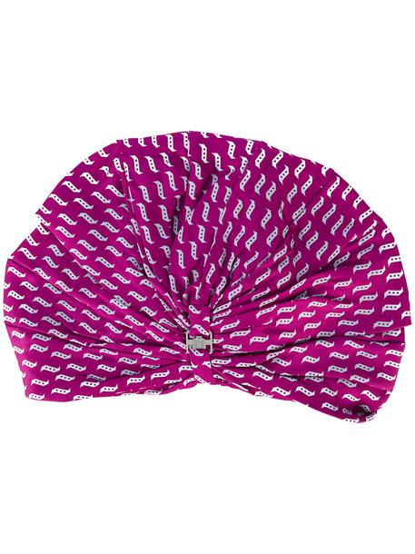 hat purple pink