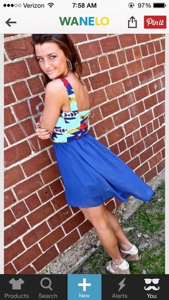 dress multi colored dress