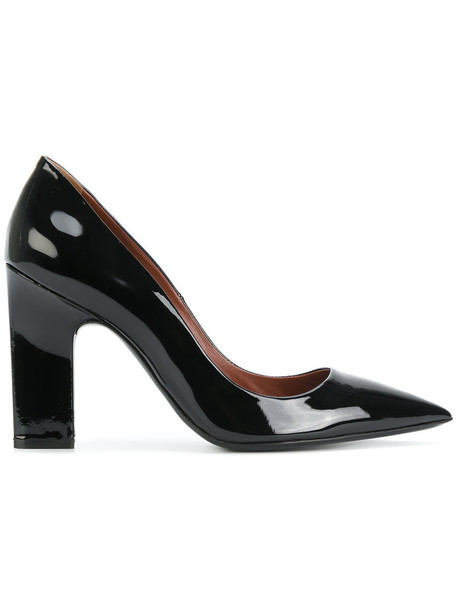 David Beauciel women pumps leather black shoes