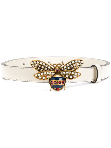 Gucci - Queen Margaret belt - women - Calf Leather - 80, White, Calf Leather