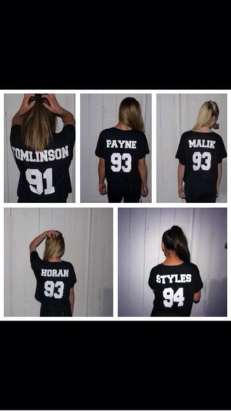 shirt t-shirt one direction tees liam payne louis tomlinson zayn malik niall horan harry styles
