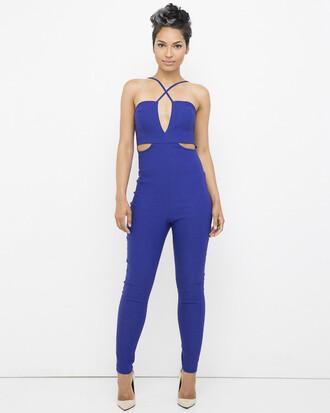 jumpsuit blue blue jumpsuit