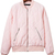Pink Diamond Quilted Bomber Jacket With Zipper -SheIn(Sheinside)