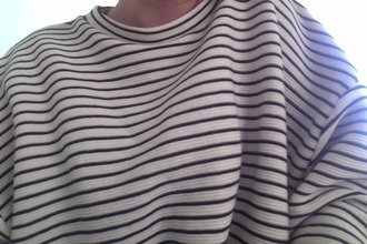 stripes black and white sweater