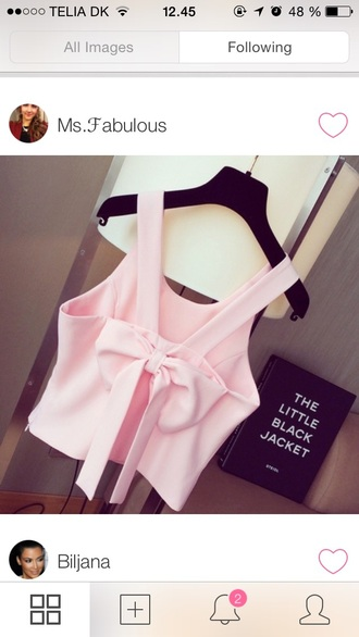 blouse cute shirt shirt rose pink bow top