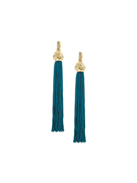 women earrings cotton blue jewels