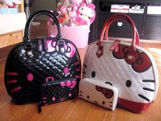 d53cb22552b8 Hello Kitty White Quilted Face Tote Bag - Cutie Gifts
