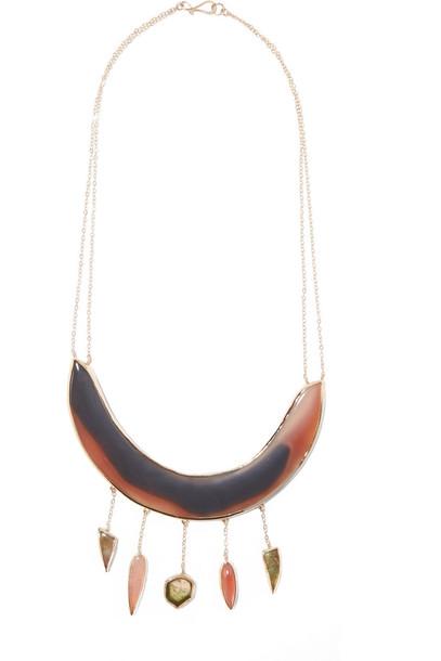 Melissa Joy Manning stone necklace necklace gold rose jewels