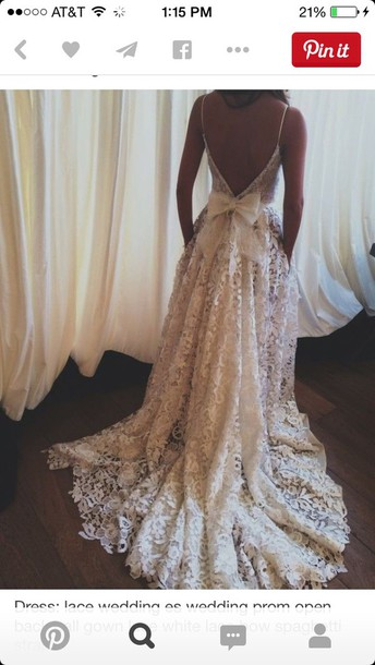 dress beige dress lace dress bow dress white dress