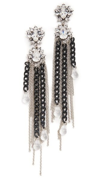 grass earrings black jewels