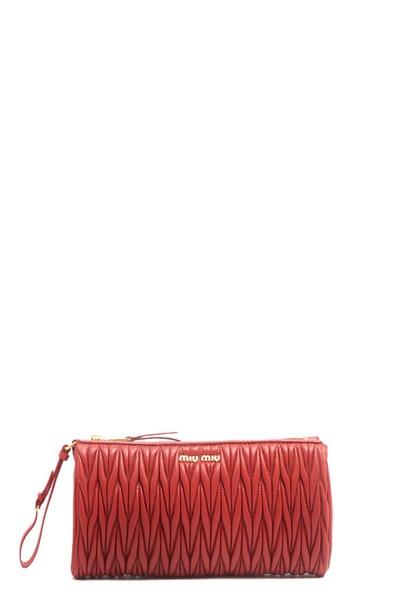 Miu Miu clutch red bag