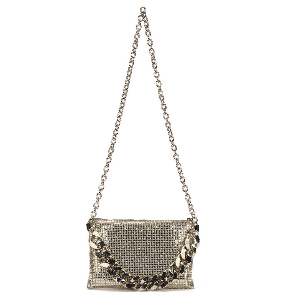 Silver Chain Mail Crossbody